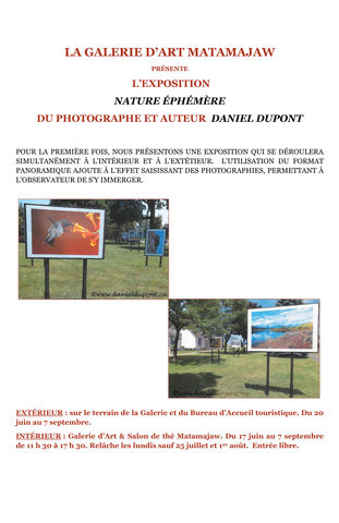 Nature éphémère by Daniel Dupont, photograh and author